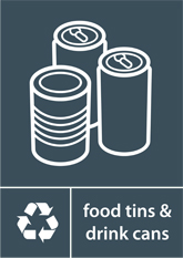 Food Tins & Drink Cans Recycling A4 Downloadable Signage