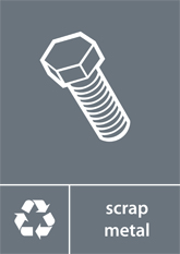 Scrap Metal Recycling A4 Downloadable Signage