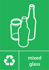 Mixed Glass Recycling A4 Downloadable Signage