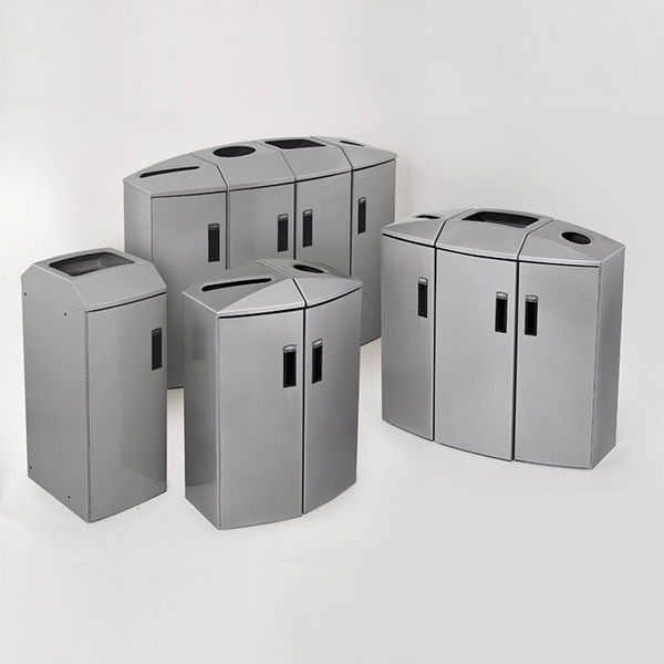 Rubbermaid Element Recycle Bins & Station Ranges