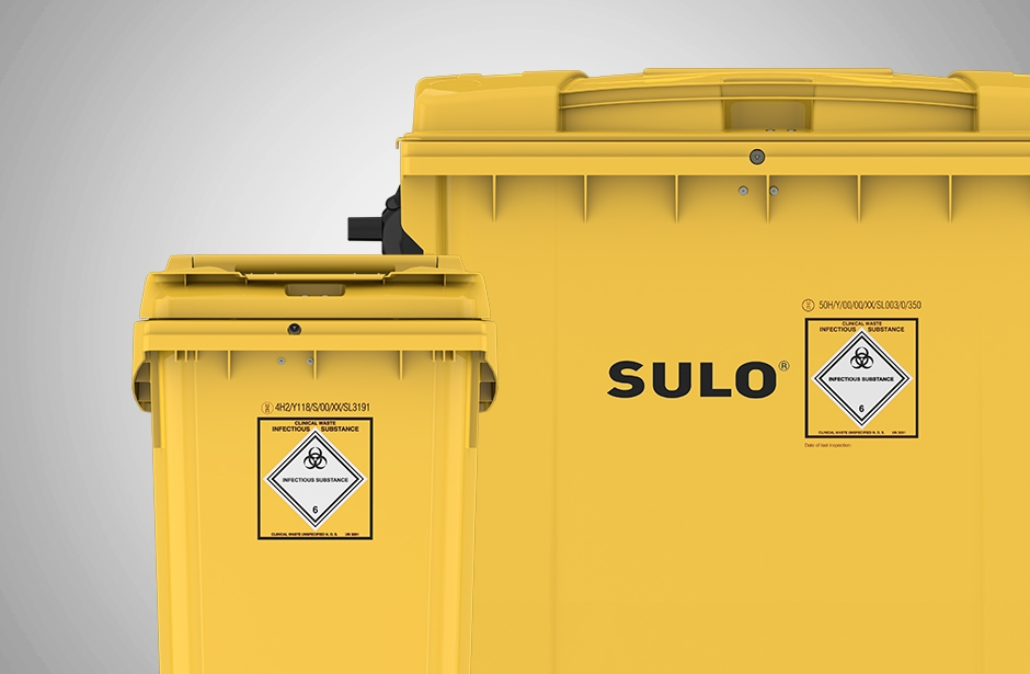 4 Wheel Wheelie Bins Hazardous Waste 360 - 1100L